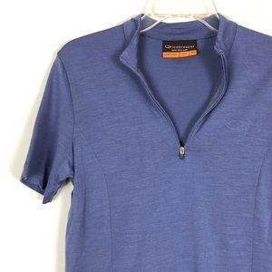 Icebreaker Merino Wool 1/4 Zip Short Sleeve Tee